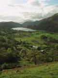 Aerial View over Valley and Llyn Gwynant, Snowdonia, Gwynedd, Wales, United Kingdom, Europe Photographic Print by Nigel Francis
