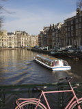 Tourist Canal Boat on the Herengracht Canal, Amsterdam, Netherlands, Europe Photographic Print by Amanda Hall