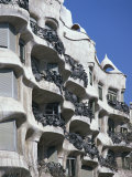 Balconies on the Casa Mila, a Gaudi House, in Barcelona, Cataluna, Spain Photographic Print by Nigel Francis