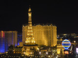 Paris Hotel on the Strip at Night, Las Vegas, Nevada, USA Photographic Print by Robert Harding