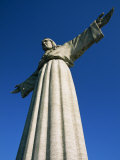 Statue of Christo Rei, Located in the Cacilhas Suburb across the River Tejo, in Lisbon, Portugal Photographic Print by Alain Evrard