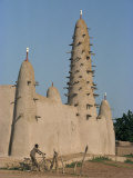 Mud Built Minaret and Mosque, Koupela, Burkina Faso, Africa Photographic Print by Ian Griffiths
