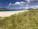 White Sand Beach of Seilebost, Isle of Harris, Outer Hebrides, Scotland, UK Fotografisk tryk af Lee Frost