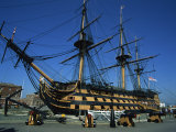 Hms Victory in Dock at Portsmouth, Hampshire, England, United Kingdom, Europe Stampa fotografica di Nigel Francis
