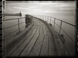 Pinhole Camera Image of View Along Timber Walkway, Blyth, Northumberland, England, UK Photographic Print by Lee Frost