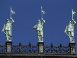 Statues of Soldiers on the Roof of the Hotel De Ville, Paris, France, Europe Photographic Print by Robert Francis
