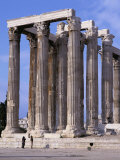 Temple of Olympian Zeus in Athens, Greece, Europe Photographic Print by Nigel Francis
