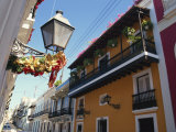 Balconies on Typical Street in the Old Town, San Juan, Puerto Rico, Central America Photographic Print by Ken Gillham