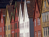 Detail of Traditional Housing Facades on the Quayside, Bergen, Norway, Scandinavia, Europe Photographic Print by Ken Gillham