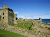 St. Andrew's Castle Founded around 1200, the Oldest University Town in Scotland, Fife, Scotland Photographic Print by Robert Francis