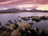 Loch Druidibeg Nature Reserve at Sunset, South Uist, Outer Hebrides, Scotland, UK Photographic Print by Patrick Dieudonne