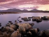 Loch Druidibeg Nature Reserve at Sunset, South Uist, Outer Hebrides, Scotland, UK Photographic Print by Patrick Dieudonne