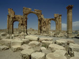 Triumphal Arch, Palmyra, UNESCO World Heritage Site, Syria, Middle East Photographic Print by Christina Gascoigne