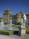 Water Fountain and Statue in the Garden in Front of Blenheim Palace, Oxfordshire, England, UK Photographic Print by Nigel Francis