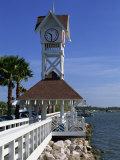 Pier and Clock, Bradenton Beach, Anna Maria Island, Florida, USA Photographic Print by Fraser Hall