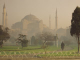 Aghia Sophia Basilica at Dusk, UNESCO World Heritage Site, Istanbul, Turkey, Europe Photographic Print by James Green