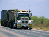 Road Train on the Stuart Highway, Northern Territory of Australia Photographic Print by Robert Francis