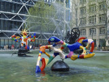 Colourful Sculptures of the Tinguely Fountain, Pompidou Centre, Beaubourg, Paris, France, Europe Photographic Print by Nigel Francis