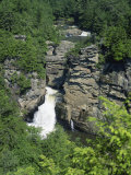 Linville Falls, Linville River Near the Blue Ridge Parkway, Appalachian Mountains, North Carolina Photographic Print by Robert Francis