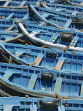 Blue Boats, Essaouira, Morocco, North Africa, Africa Photographic Print by Lee Frost