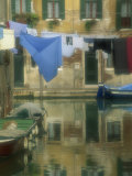 Laundry Hung over Canal to Dry, the Ghetto, Venice, Veneto, Italy, Europe Photographic Print by Lee Frost