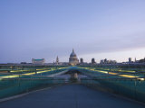 St. Pauls Cathedral and Millennium Bridge, London, England, United Kingdom, Europe Photographic Print by Kelly Michael