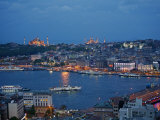 Skyline of Istanbul with a View over the Golden Horn and the Galata Bridge, Istanbul, Turkey Photographic Print by Levy Yadid