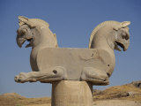Double-Headed Eagle, Persepolis, UNESCO World Heritage Site, Iran, Middle East Photographic Print by Poole David