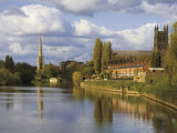 City of Worcester and River Severn, Worcestershire, England, United Kingdom, Europe Photographic Print by Hughes David