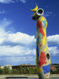Brightly Coloured Sculpture by Joan Miro, in Barcelona, Cataluna, Spain Photographic Print by Lawrence Graham