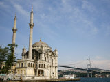 Ortakoy Mecidiye Mosque and the Bosphorus Bridge, Istanbul, Turkey, Europe Photographic Print by Levy Yadid