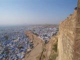View from Fort of Blue Houses of Brahmin Caste Residents of City, Jodhpur, Rajasthan State, India Fotografisk trykk av Harding Robert