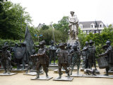 Statues of Rembrandt and the Night Watches on Rembrandtplein, Amsterdam, Holland, Europe Photographic Print by Levy Yadid