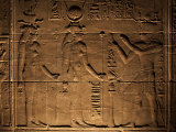 Relief Carvings Adorn the Walls of the Temple of Philae, Near Aswan, Egypt Photographic Print by Mcconnell Andrew