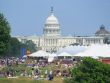4th of July Celebrations in Front of the Capitol Building, Washington D.C., USA Photographic Print by Hodson Jonathan
