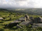 Dartmoor, View Southeast from Bonehill Rocks, Devon, England, United Kingdom, Europe Photographic Print by Lomax David