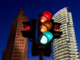 Traffic Signal and Office Buildingst, Potsdamer Platz, Berlin, Germany Photographic Print by Gavin Hellier