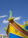 Traditional Coloured Boat, Marsaxlokk, Malta, Mediterranean, Europe Photographic Print by Kelly Michael