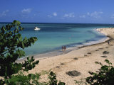 View over Beach, Guarda La Vaca Beach, Cuba, West Indies, Central America Photographic Print by Morandi Bruno