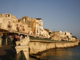 Seafront Area at the Historical Area of Ortygia, Syracuse, Sicily, Italy, Europe Photographic Print by Levy Yadid