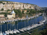 Boats Moored in Harbour, Port Miou, Calanques De Cassis, Bouches Du Rhone, France Photographic Print by Morandi Bruno