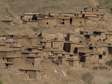 Berber Village of Stone and Earth, Near Tizi-N-Tichka Pass, High Atlas Mountains, Morocco Photographic Print by Maxwell Duncan