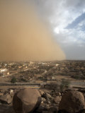 Sandstorm Approaches the Town of Teseney, Near the Sudanese Border, Eritrea, Africa Photographic Print by Mcconnell Andrew