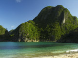 Gota Beach and Limestone Cliffs, Camarines Sur, Caramoan National Park, Philippines, Southeast Asia Photographic Print by Kober Christian