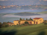 Houses in a Misty Landscape Near Pienza, Siena Province, Tuscany, Italy, Europe Photographic Print by Morandi Bruno