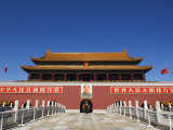 Gate of Heavenly Peace at the Forbidden City Palace Museum, Beijing, China Photographic Print by Kober Christian