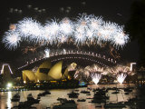 New Years Eve 2006, Opera House, Harbour Bridge, Sydney, New South Wales, Australia Photographic Print by Kober Christian