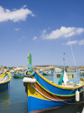 Traditional Coloured Boats, Marsaxlokk, Malta, Mediterranean, Europe Photographic Print by Kelly Michael