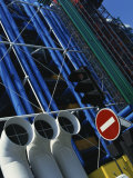 Exterior Detail of Pipes at the Pompidou Centre, Beaubourg, Paris, France, Europe Photographic Print by Mawson Mark