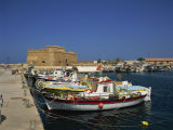 Fishing Boats in the Harbour at Paphos, Cyprus, Mediterranean, Europe Photographic Print by Miller John